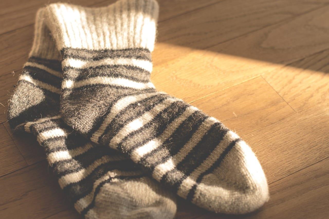 ボーダーの靴下