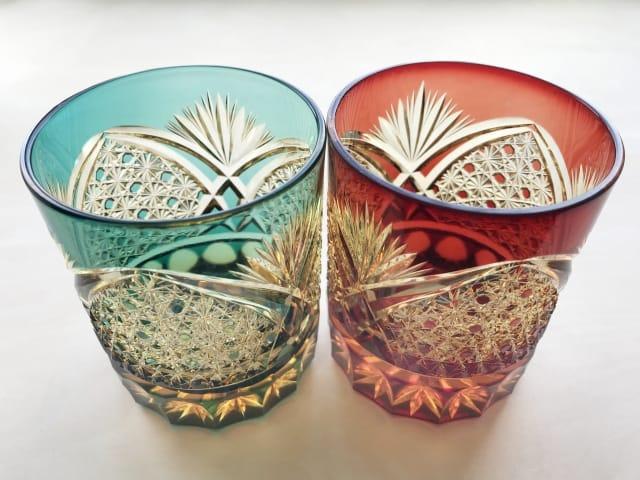 還暦祝いのプレゼントに江戸切子のグラス
