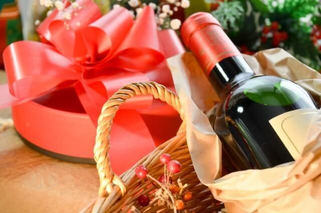 赤ワインとギフト