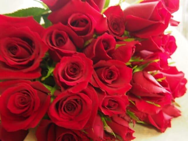 還暦に60本のバラ