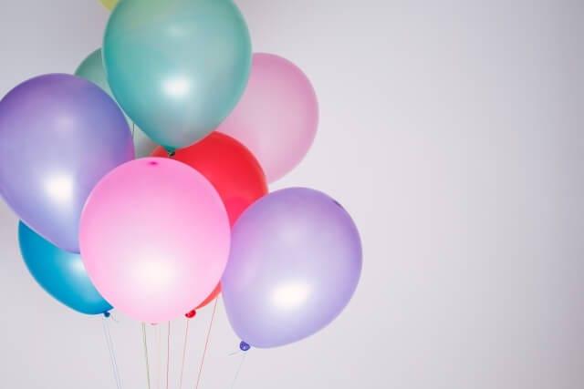パーティーに風船