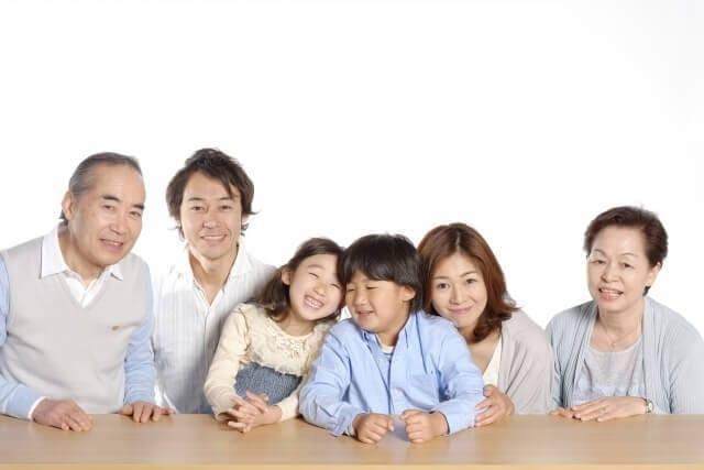還暦と記念の家族写真