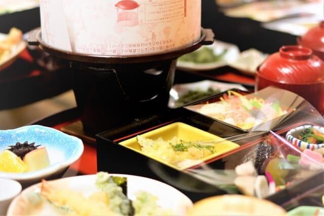 Banquet at travel destination