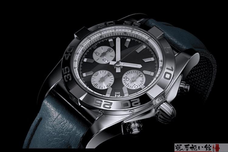 黒の重厚感ある男性用腕時計