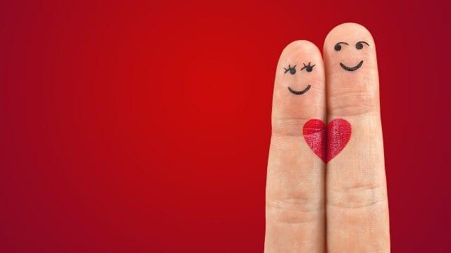 夫婦の指人形