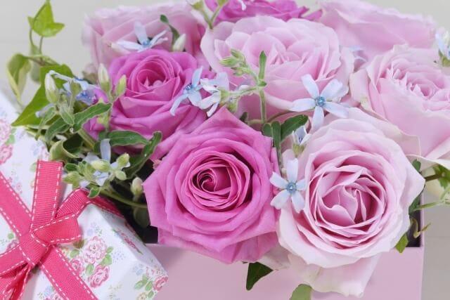 喜寿に77本のバラ