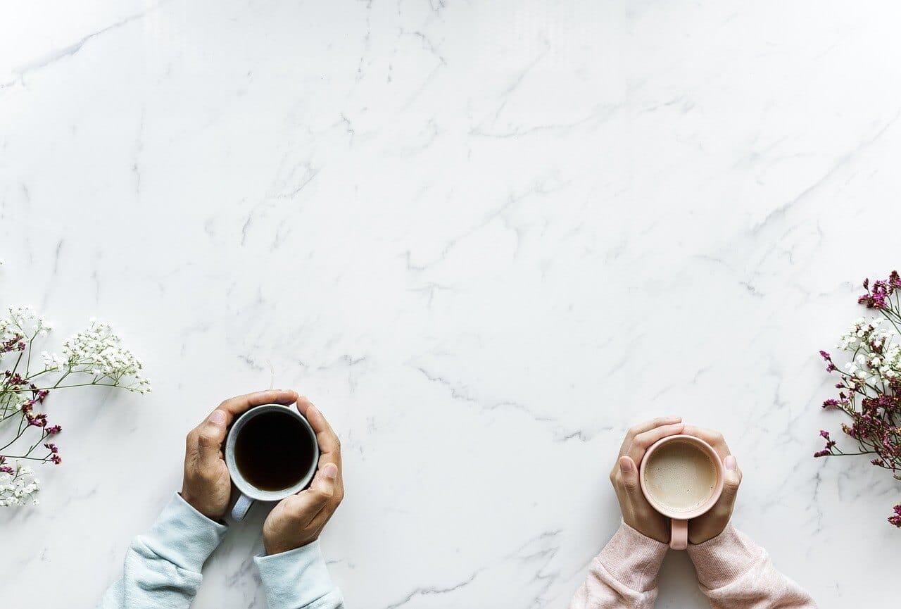 コーヒーカップと珈琲