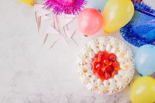 ケーキと風船