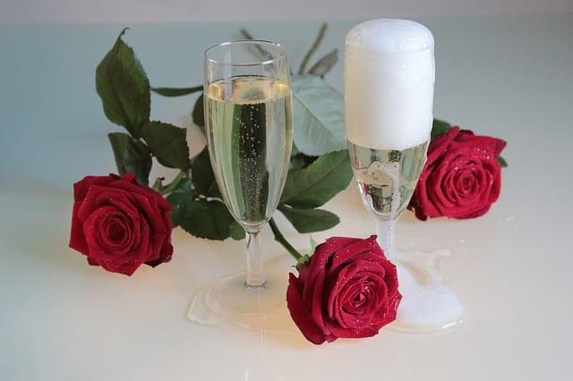 バラとワイン