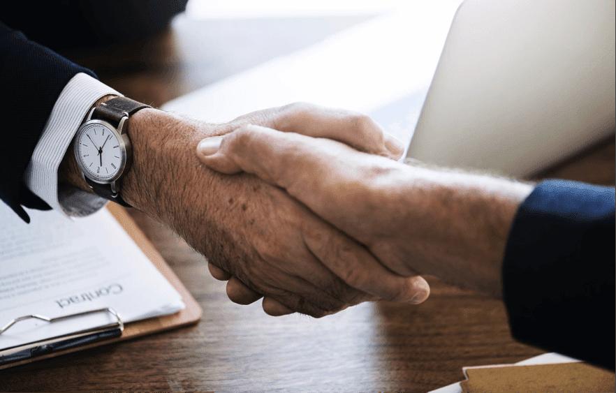 ビジネス時の握手