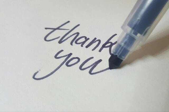 退職祝いに感謝メッセージのイメージ