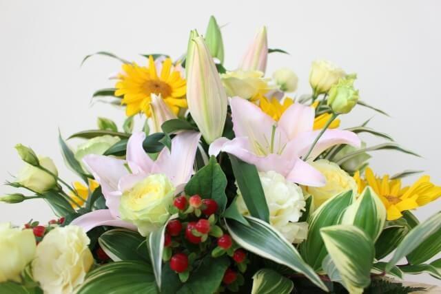 還暦に渡す花束