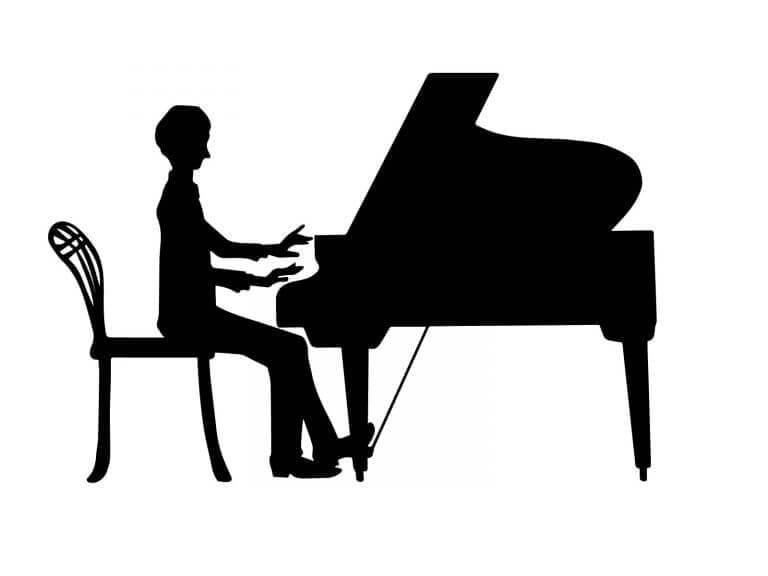 新婦のピアノ演奏