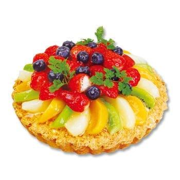 フルーツがたっぷりとのったホールサイズのタルトケーキ