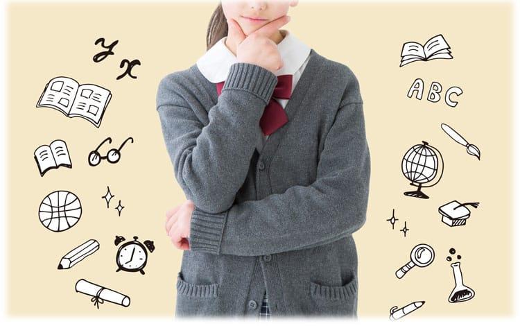 Κορίτσι γυμνασίου που σκέφτεται με το χέρι της στο πηγούνι της