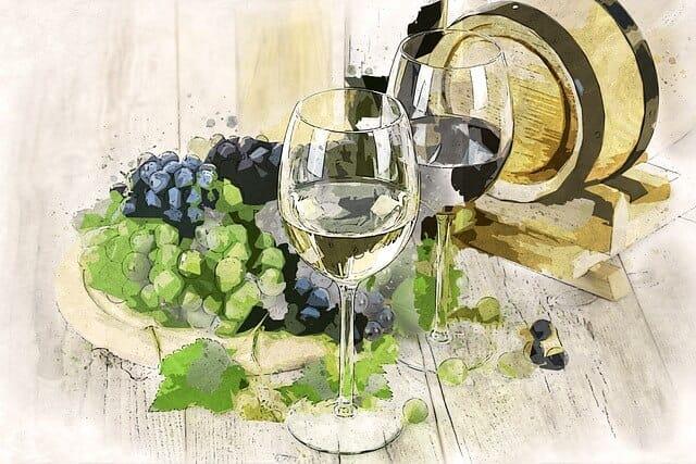 ワインの絵
