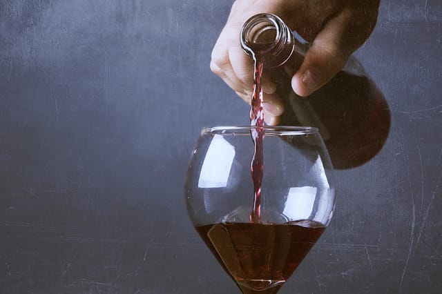Opened wine