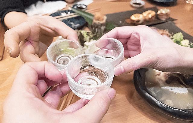 日本酒でパーティー