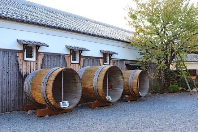 Sake storehouse in the Edo period