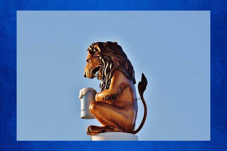 ライオン ビール シンボル