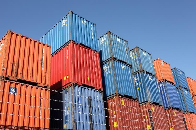 輸出用のコンテナ