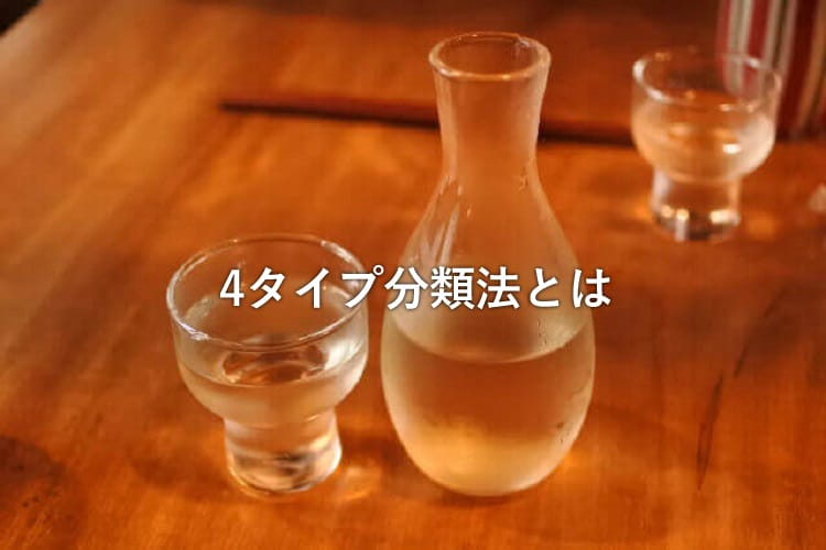 日本酒が入ったガラス製の徳利とグラス