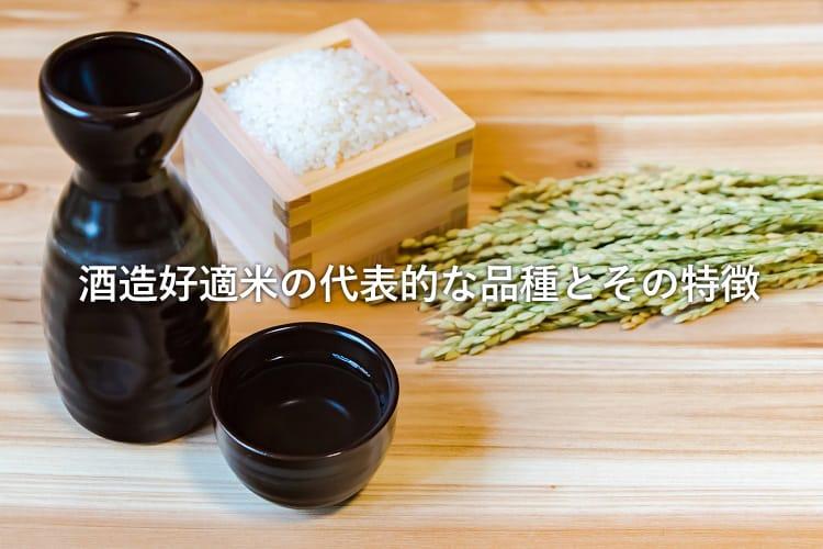 枡に入った米と徳利・おちょこと稲穂