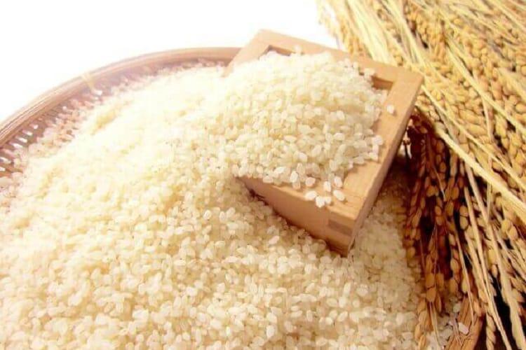 枡に入った米粒と稲穂