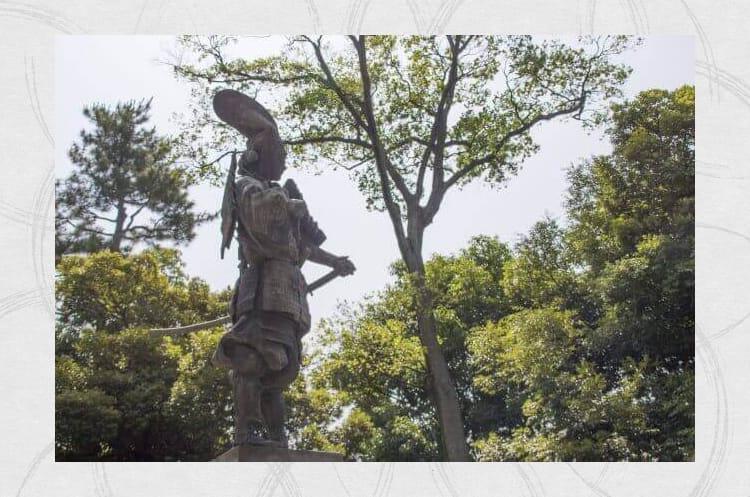 Άγαλμα ενός πολέμαρχου στην περίοδο Sengoku Azuchi-Momoyama